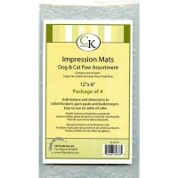 CK Impression Mat Set Dogs & Cats Paws -4st-