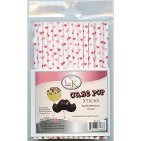 CK Cake Pops Sticks Hearts Mini Pink & Red -25st-