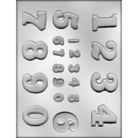 CK Chocolate & Candy Mold Numbers Assorted Sizes