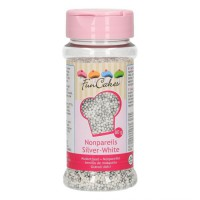 FunCakes Musketzaad Zilver-Wit -80gr-