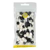 Wilton Sprinkles Black/White Football -56gr-