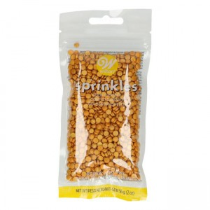 Wilton Sprinkles Gold Small Confetti -56gr-