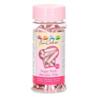 FunCakes Metallic Sugar Rods XL Pink -70gr-