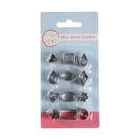 Cake Star Mini Metal Cutters Basic Shapes Set -12st-