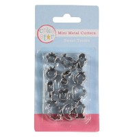 Cake Star Mini Metal Cutters Sweet Treats Set -12st-