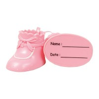 Cake Star Plastic Topper Booties Pink