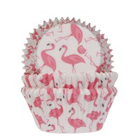 House of Marie Baking Cups Flamingo -50st-