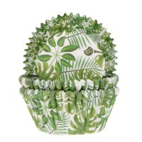 House of Marie Baking Cups Groen Blad -50st-