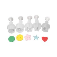 Cake Star Plunger Cutter Mini Set -5st-