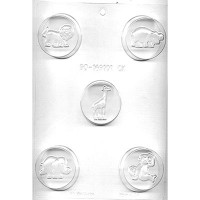 CK Chocolate & Candy Cookie Mold Round (Oreo) Zoo Animals