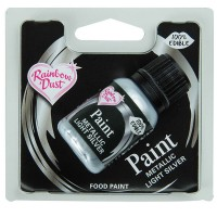 RD Metallic Food Paint Light Silver -25ml-