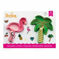 Decora Cookie Cutter Set Flamingo & Palm -2st-