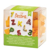 Decora Cookie Cutter Set Alphabet & Numbers -36st-