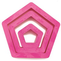 Decora Cookie Cutter Set Pentagon -3st-