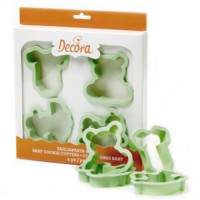 Decora Cookie Cutter Set Baby -4st-