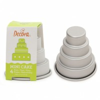 Decora Mini Wedding Cake Pan -4 Tier-
