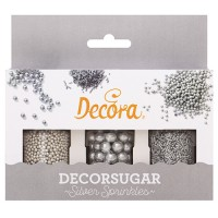 Decora Sugar Decoration Set Silver Sprinkles