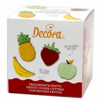 Decora Cookie Cutter Set Fruits -4st-