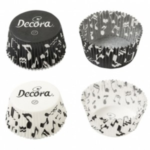 Decora Baking Cups Music Notes -75st-