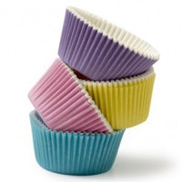 Decora Baking Cups Mixed Pastel Colours -75st-