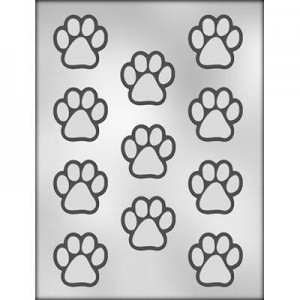 Ck Chocolate Candy Mold Paw Print Taart En Decoratie