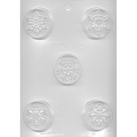 CK Chocolate & Candy Cookie Mold Round (Oreo) Snowflakes
