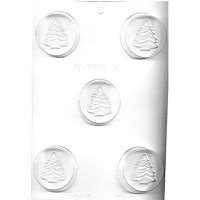 CK Chocolate & Candy Cookie Mold Round (Oreo) Chrtismas Tree
