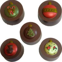 CK Chocolate & Candy Cookie Mold Round (Oreo) Xmas Ornaments
