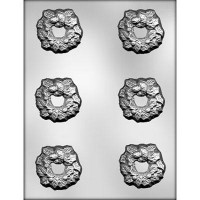 CK Chocolate & Candy Mold Holly Wreath