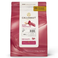 Callebaut Chocolade Callets Ruby -2,5kg-