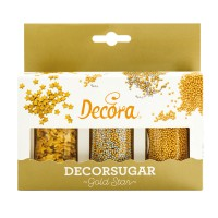 Decora Sugar Decoration Set Gold Star