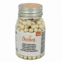 Decora Maxi Sugar Pearls Pearly White 8mm -100gr-