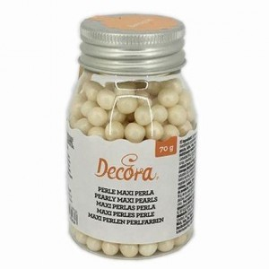 Decora Suikerparels Parelmoer Wit 8mm -100gr-