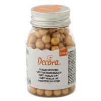 Decora Maxi Sugar Pearls Gold 8mm -100gr-