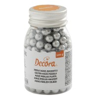 Decora Maxi Sugar Pearls Silver 8mm -100gr-