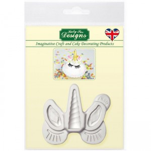 Katy Sue Mould Unicorn Ears, Horn and Lashes
