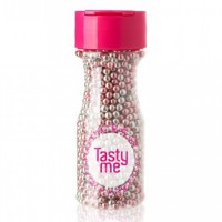 Tasty Me Parels Metallic Zilver/Roze 4mm -75gr-