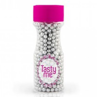 Tasty Me Crispy Parels Zilver 4mm -55gr-