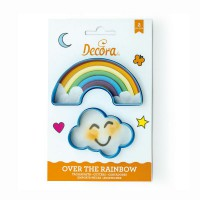 Decora Cookie Cutter Set Rainbow & Cloud -2st-