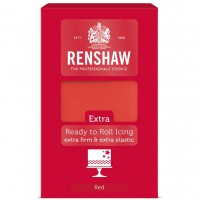 Renshaw Rolfondant Extra Red -1kg-
