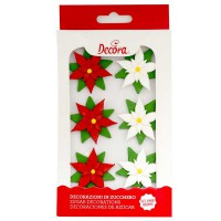 Decora Sugar Flowers Poinsettias -6st-