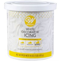 Wilton Decorator Icing White Stiff Consistency -453gr-