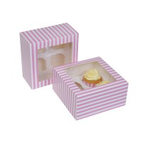 House of Marie 4-Cupcake Doos Circus Pink -2st-