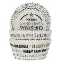 House of Marie Baking Cups Merry Christmas -50st-