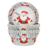 House of Marie Baking Cups Kerstman -50st-