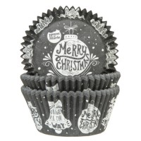 House of Marie Baking Cups Kerstbal -50st-