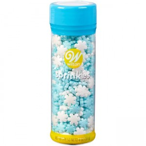 Wilton Jumbo Sprinkles Jumbo and Mini Pearlized Stars -56gr-