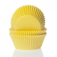 House of Marie Mini Baking Cups Geel -60st-