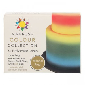 Sugarflair Airbrush Colour Collection Alcohol Free -8x14ml-