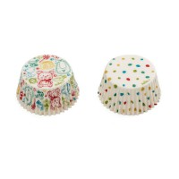 Decora Baking Cups Baby & Dots -36st-